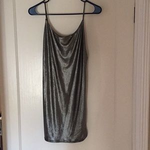 Urban Outfitters Backless Silver Body-Con Dress